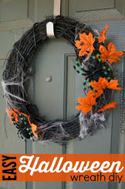 Halloween Wreath Ideas Front Door Easy Halloween Wreath Diy A Mom U0027s Take