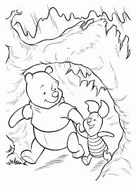 winnie the pooh winter coloring pages printables winter coloring