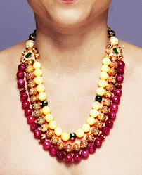 gold beaded necklace india images Jewelry designs avani jpg