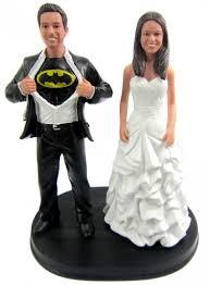 wedding cake toppers custom batman wedding cake topper