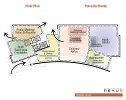 public floor plans glendale library design update glendale library