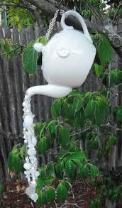 tea pot garden decor yard hanging garden beaded sun