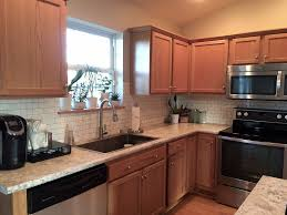 Kitchen Without Cabinets The Feel Of A White Kitchen Without White Cabinets Builder Grade