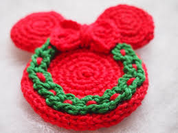 christmas ornament mickey mouse minnie mouse crochet pattern