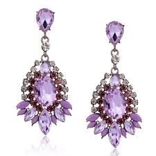 purple earrings big purple drop earrings 2015 fashion rhinestone waterdrop