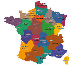 States And Capitals Map by Maps Of The Regions Of France