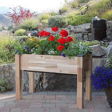 Garden Bench With Planters Planters Costco