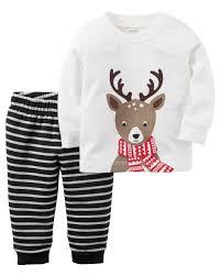 2 piece reindeer top u0026 fleece pant set carters com