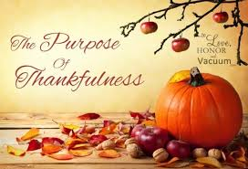 thankful thursday the purpose of saying thanks to honor and