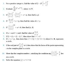 class 11 important questions for maths u2013 complex numbers and