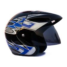 motocross helmets in india autofy o2 helmet0003 full close helmet black and blue m amazon
