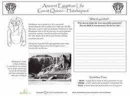 ancient egypt queen hatshepsut worksheet education com