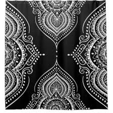 Black And White Paisley Shower Curtain - black and white swirl shower curtains zazzle