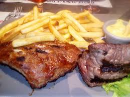 cuisiner coeur de porc ribs de porc coeur de filet de bison frites dorées picture of