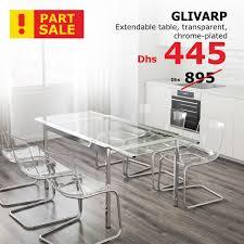 ikea glivarp extendable table ikea uae on twitter extendable transparent and chrome plated
