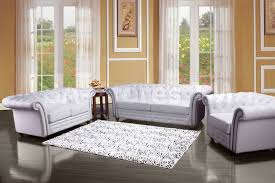 3 piece white leather sofa set center divinity