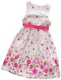 buy kids small white floral printed cotton dress little girls