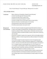 pmp certified resume sample resume ideas
