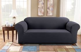 slipcovers for t cushion sofas sure fit simple stretch subway box cushion sofa slipcover