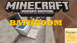 minecraft pocket edition build tutorials 3 bathroom youtube