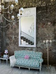 shabby chic rustic pastels interior eclectic living home