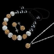 shamballa bracelet jewelry images 10mm crystal ball jewelry shamballa bracelet earrings necklace set jpg