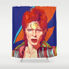 Curtains 1983 Ziggy Stardust Shower Curtains Society6