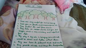 write some lines on the topic uses of trees