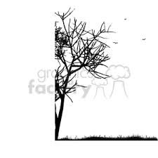 royalty free black and white tree border 375299 vector clip