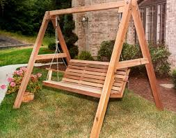 Swing Patio Chair by Furniture Interesting Wooden Porch Swings With Bottle Stand And
