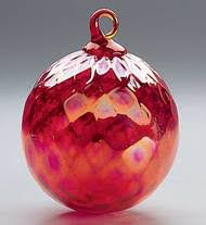 150l glass eye studio ornaments purple sprinkle glass eye studio