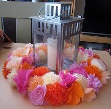 paper flower centerpieces diy paper flower wreath ruffled
