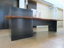 custom made reception desk industrial reception desk custom made metal modern industrial plate