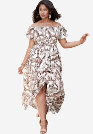 off the shoulder crepe maxi dress plus size clearance dresses