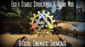ark survival evolved eco u0027s stable structures u0026 decor mod