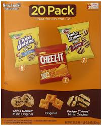 Amazon Com Quaker Chewy Granola Bars Variety Pack 58 Count by Keebler Cookie And Cheez It Variety Pack 20 Count Packaging May