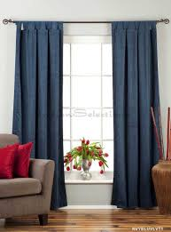 amazon com navy blue tab top velvet curtain drape panel 43w