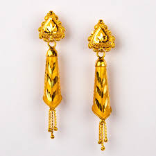 gold earrings tops fancy gold earring govind dande and sons