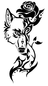 rose wolf tribal tattoo by protectorshade on deviantart