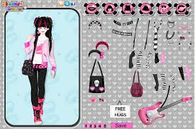emo dress up games rinmaru games kawaii emo girl dress up game
