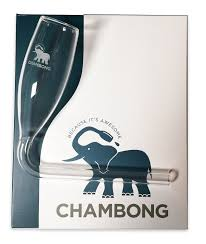 champagne cartoon chambong glassware for rapid champagne consumption amazon co uk