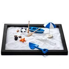 zen sand garden for desk amazon com zen sand beach garden for desk office decor tabletop