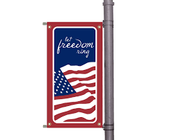 American Flag Wall Hanging Vertical Pole Flags Projection Signs Brooklyn Signs