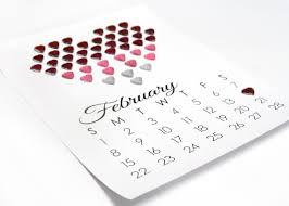 valentine u0027s day ombré heart calender with printable template