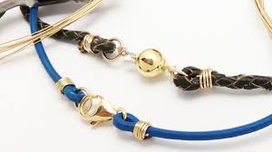 cord necklace clasp images How to attach any clasp to leather or thick cord jewelry making jpg
