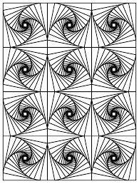 op art illusion optique 3 op art coloring pages for adults