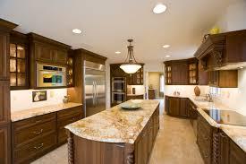 l shape brown wood kitchen cabinet kitchen countertop design ideas