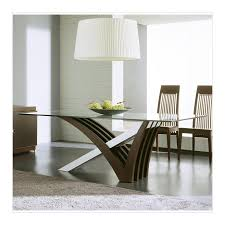 Modern High Top Tables by Mirage Wenge Clear Glass Dining Table By Rossetto All World