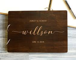 engraved guest book engraved guest book etsy