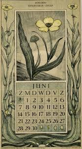 botanical calendars le roy charles illustrator june botanische kalender
